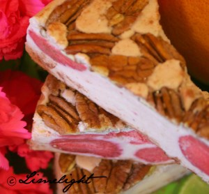 Raw Strawberry Walnut Pie