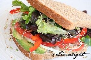 Raw Melissa Veggie Sandwich