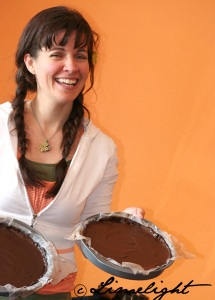 Raw Melissa with Chocolate Pie
