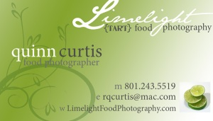 Limelight Food Photography Business Card 1