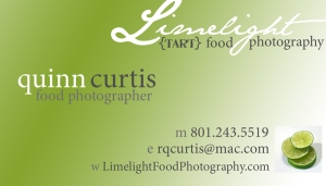 Limelight Food Photography Business Card 3